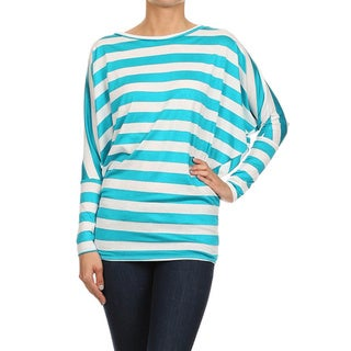 MOA Collection Women's Bulgaria Striped Long Sleeve Top