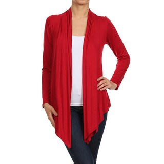 MOA Collection Women's Solid Color Open Front Cardigan (More options available)