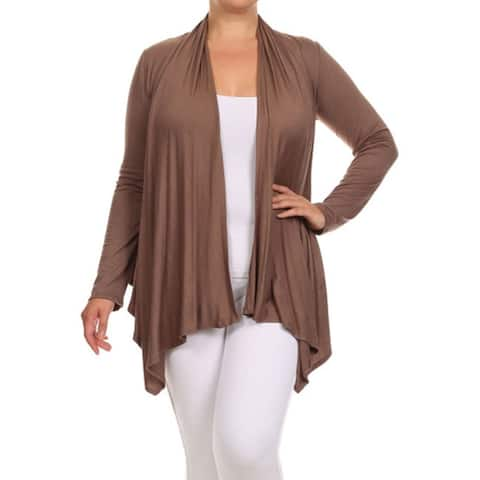 6487c9cc79 MOA Collection Women s Solid Color Open Front Cardigan. Was.  23.39.  4.68  OFF. Sale  18.71