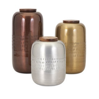 Aluminum Lidded Vessels (Set of 3)