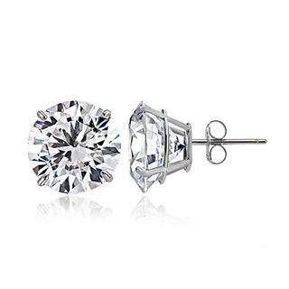 Icz Stonez 14k Gold 6mm 1.5ct TGW Round Cubic Zirconia Stud Earrings