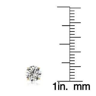Icz Stonez 14k Gold 5mm 1ct TGW Round Cubic Zirconia Stud Earrings