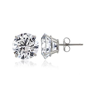 Icz Stonez 14k Gold 5mm 1ct TGW Round Cubic Zirconia Stud Earrings (2 options available)