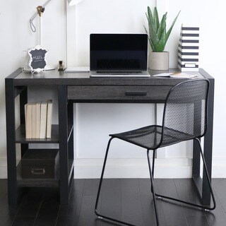 Charcoal Wood and Metal 48-inch Computer Desk