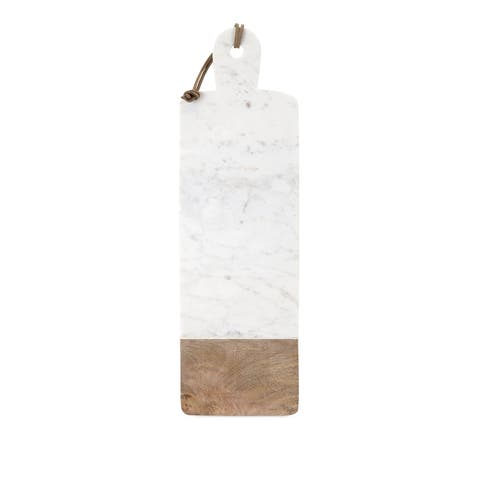Danita Marble and Wood Cheese Board