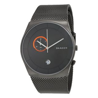 Skagen Men's SKW6186 Havene Chronograph Grey Dial Stainless Steel Mesh Bracelet Watch
