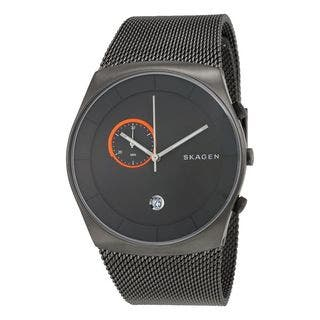 Skagen Men's SKW6186 Havene Chronograph Grey Dial Stainless Steel Mesh Bracelet Watch|https://ak1.ostkcdn.com/images/products/10549420/P17628977.jpg?impolicy=medium