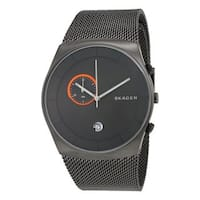 Skagen Men's SKW6186  Havene Chronograph Grey Dial Stainless Steel Mesh Bracelet Watch