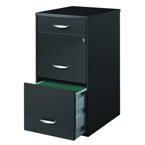 Office Designs 3 Drawer Charcoal File Cabinet