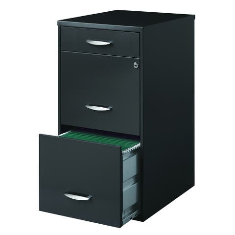 Porch & Den Ferris 3-drawer Charcoal File Cabinet