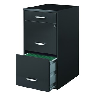 Porch & Den Pratt 3-drawer Charcoal File Cabinet