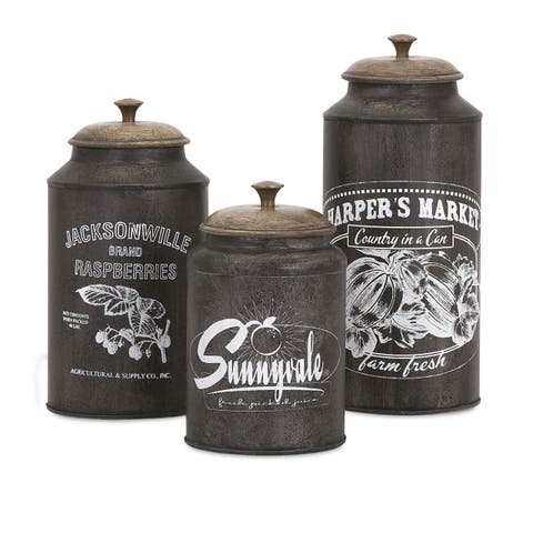 Darby Metal Canisters (Set of 3)