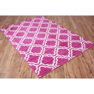 Well-woven Bright Modern Lattice Trellis Geometric Area Rug (7'10 x 10'6)