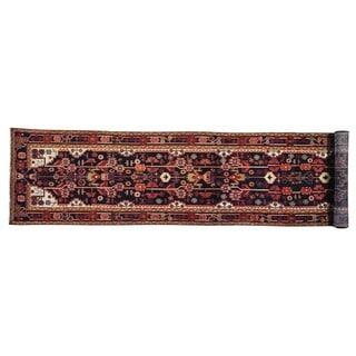 XL Runner Full Pile Persian Nahavand Hand Knotted Rug (3'4 x 17'1)