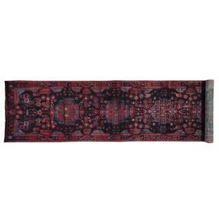Hand Knotted XL Runner Full Pile Persian Nahavand Rug (3'8 x 17'1)