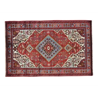 Persian Nahavand Full Pile Hand Knotted Oriental Rug (5'2 x 8')
