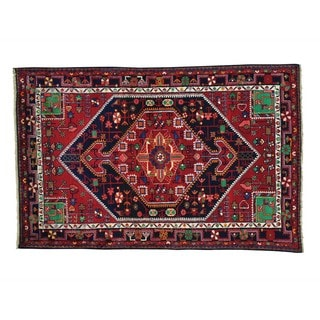 Hand Knotted Full Pile Persian Nahavand Oriental Rug (4' x 6'1)