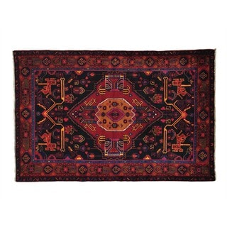 Full Pile Persian Nahavand Hand Knotted Oriental Rug (4'5 x 6'9)