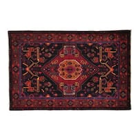 Full Pile Persian Nahavand Hand Knotted Oriental Rug - 4'5 x 6'9
