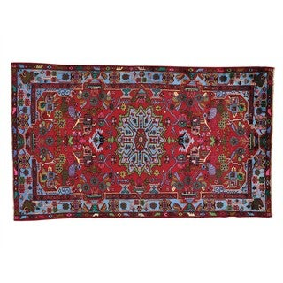 Full Pile Persian Nahavand Oriental Rug Hand Knotted (4'9 x 8')