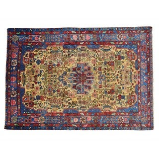Full Pile Persian Nahavand Hand Knotted Oriental Rug (6'6 x 9'4)