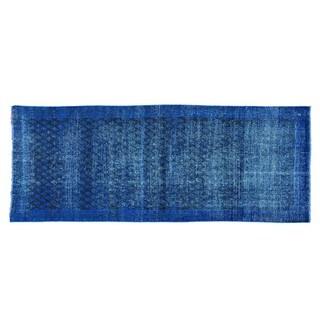 Wide Runner Overdyed Persian Sarouk Mir Handmade Rug (3'10 x 9'9)