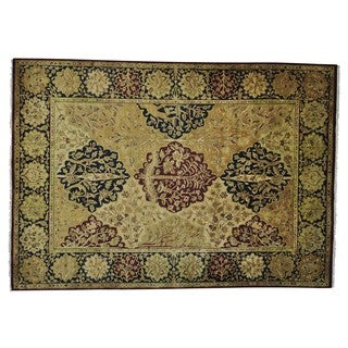 Rajasthan Tree Design Thick and Plush Hand Knotted Rug (10' x 14'2)