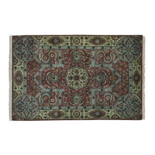 Rajasthan Thick and Plush Hand Knotted Oriental Rug (4'1 x 6'2)