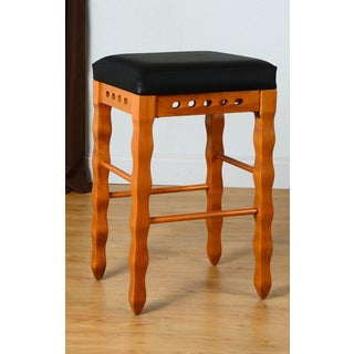Wavy Backless Counter Stool