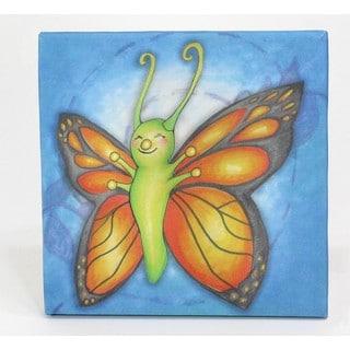 Growing Kids Caterpillar to Butterfly Series Canvas Wall Art - Butterfly