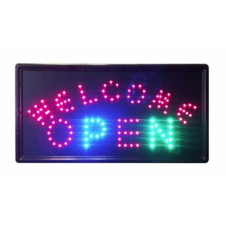 Constructor Open Sign with Animated Motion LED Neon Light with On/ Off and 2 Way Animation Switchand Chain