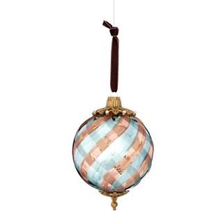 Glass Multi Plaid Pattern Jewels 4-inch Ornament