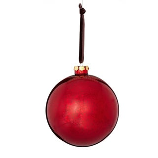 Glass Mercury Finish Ball 5-inch Red/ Brown Ornament