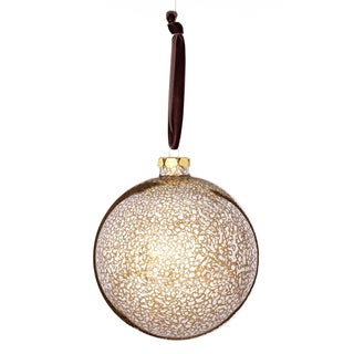 Glass Mercury Finish Ball 5-inch Green/ Brown Ornament
