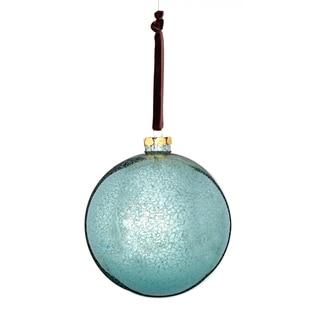 Glass Mercury Finish Ball 5-inch Blue/ Black Ornament