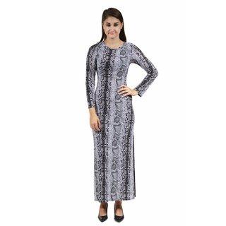 24/7 Comfort Apparel Women's Snakeskin Printed Maxi Dress