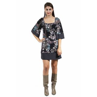 24/7 Comfort Apparel Women's Fall Square-Neck Shift Dress