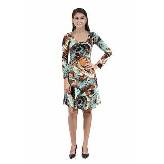 24/7 Comfort Apparel Women's Abstract Sandstone Sheath Dress