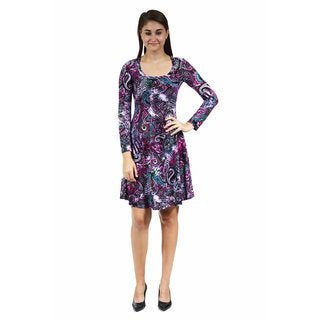 24/7 Comfort Apparel Women's Cool Paisley Sheath Dress