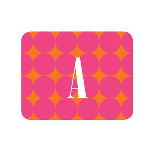 Pink Polka Dots Personalized Mouse Pad