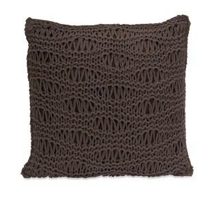 Satoria Chocolate Crochet Pillow 16-inch