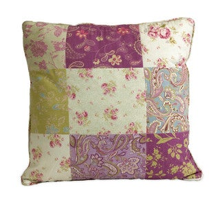 Etta May Patchwork Pattern Pillow 18-inch