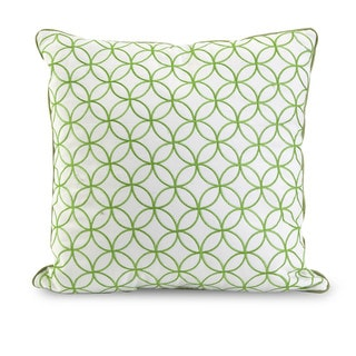 Essentials Green Embroidered Pillow  17-inch