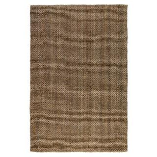 Hand-spun Electra Knobby Loop Kosas Natural/Charcoal Jute Rug (5 x 8)
