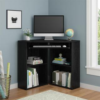 Avenue Greene Battlewood Black Oak Corner Desk