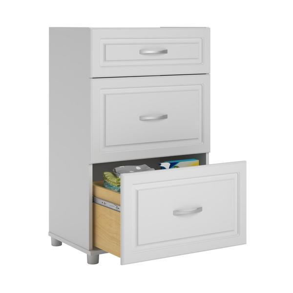 SystemBuild White Kendall 24-inch 3-drawer Base Cabinet - Free ...