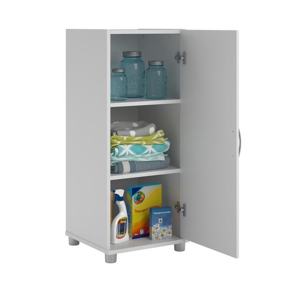 systembuild white kendall 16-inch stackable storage cabinet - free