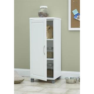 systembuild white kendall 16inch stackable storage cabinet