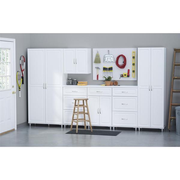 SystemBuild White Kendall 24-inch 1-drawer, 2-door Base Storage ...