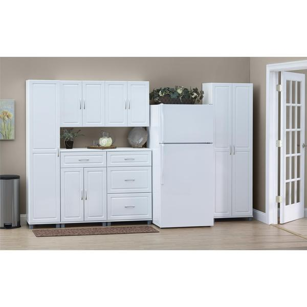 SystemBuild White Kendall 24-inch Wall Storage Cabinet - Free ...